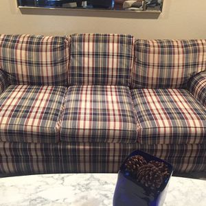 Plaid Couch for Sale in Fresno, CA
