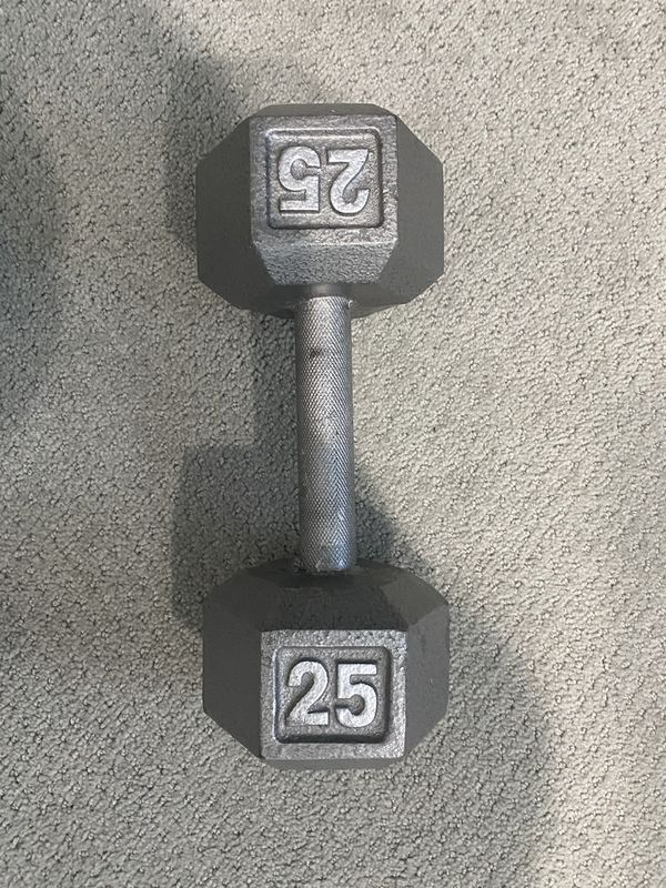 Weights Dumbbells 25 lbs and 15 lbs