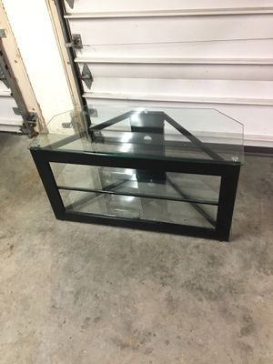Glass tv stand for Sale in South Heights, PA