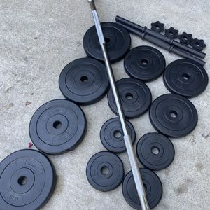 Dumbbells straight bar and weight for Sale in Costa Mesa, CA