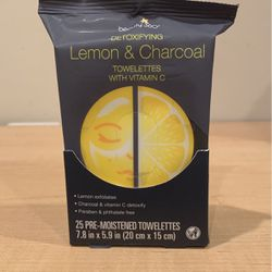 Beauty 360 Lemon & Charcoal wipes 25 count for Sale in Alexandria,  VA