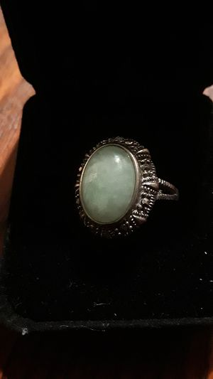 Gorgeous Sterling Silver 925 genuine Jade stone ring for Sale in New York, NY