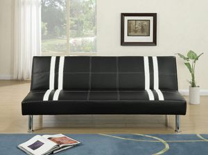 Brand new faux leather futon adjustable sofa bed for Sale in Kensington, MD