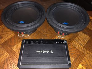 "Rockford Fosgate Amp R1200-10 + (2) 10"" Alpine S-W10D4 Subs for Sale in Las Vegas, NV"
