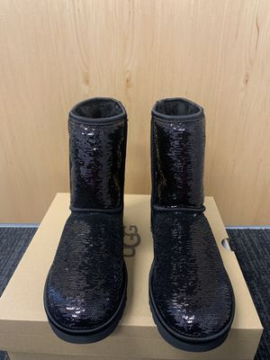 100% Authentic Brand New in Box UGG Classic Short Cosmos Sequin Boots / Color Black /women size 7 available for Sale in Walnut Creek, CA