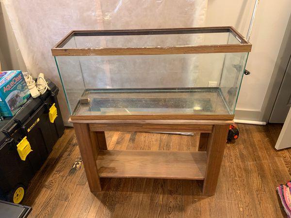 Real wood fish tank