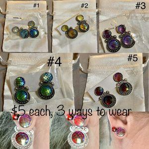 Mermaid scale earrings $5 each. Can be worn 3 different ways for Sale in Phoenix, AZ