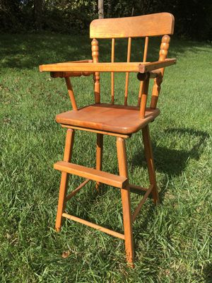 Vintage Solid Wood Doll Highchair for Sale in Montpelier, MD