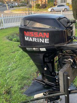 Nissan Marine 15 Hp Outboard 4 Stroke Short Shaft Boat Motor for Sale in Cypress,  CA