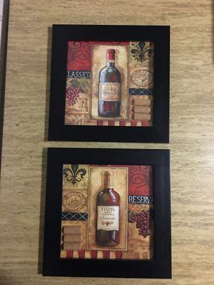2 Wine Picture frames for Sale in Riverside, IL
