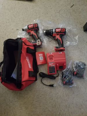 Milwaukee drill and inpact wrech set brand new 2 battery for Sale in Austin, TX