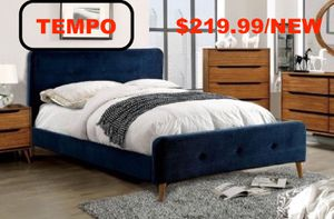 Fabric Twin Bed , Navy for Sale in Fountain Valley, CA