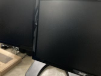 (2) ACER monitors , (1) Dual LCD Stand, Cables Included, (1) New Keyboard (1) Mice for Sale in Laguna Niguel,  CA