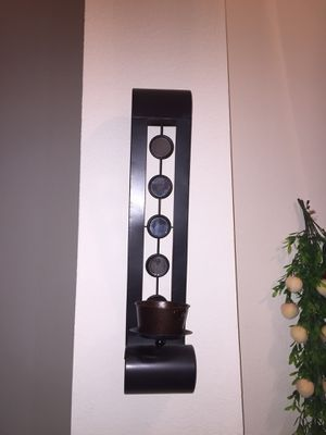 Metal Wall Sconce (set of 2) with TWO FREE candles for Sale in Flower Mound, TX