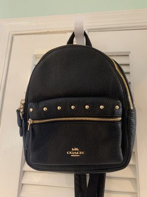 Coach black pebbled leather backpack NEW for Sale in FL, US