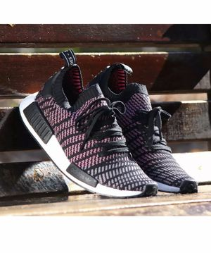 Adidas NMD_R1 STLT PK Mens Shoes Core Black Grey Solar Pink CQ2386 BOOST Size 10 New without box for Sale in French Creek, WV
