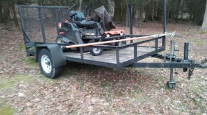 Home Made Landscape Trailer 10.5ft by 6ft (Mower Not Included) for Sale in Chaplin, CT