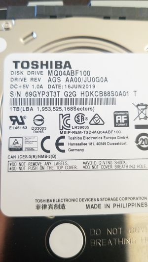 Toshiba laptop hard drive for Sale in Hawthorne, CA