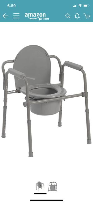 New Steel bedside potty foldable for Sale in Los Angeles, CA