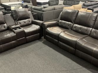 (JUST $54 DOWN) Brand new Recliner Sofa And Love Seat Set (Financing & Delivery Available) for Sale in Euless,  TX