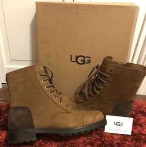 Ugg Brand New Women's Kilmer Chestnut Shearling Leather Boots Sz 10 for Sale in New Port Richey, FL