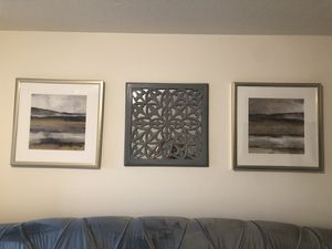 Wall Art - Pattern Mirror & Gold Abstract (3 pcs) for Sale in Salt Lake City, UT