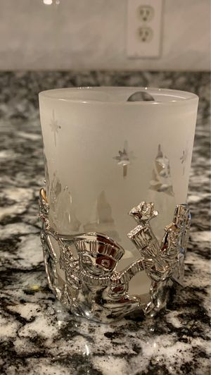 4 inch silver plated votive candle holder for Sale in Billerica, MA