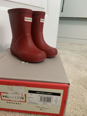 Hunter rain boots for Sale in Norfolk, VA