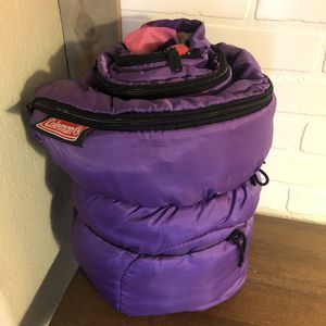 Coleman Junior Sleeping Bag for Sale in Rancho Cucamonga, CA