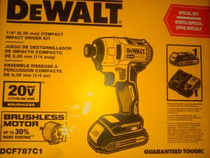 DeWalt impact driver kit , brushless motor comes with battery and a charger for Sale in Portland, OR