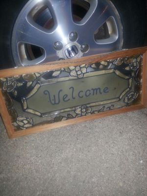 Nice oak frame and stain glass only 20 for Sale in Glen Burnie, MD
