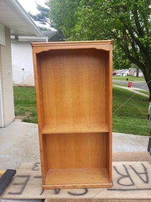 Oak book shelf for Sale in Grove City, OH