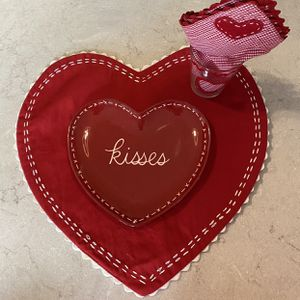 Pottery Barn kids matching Valentine's Table settings for Sale in Gilbert, AZ