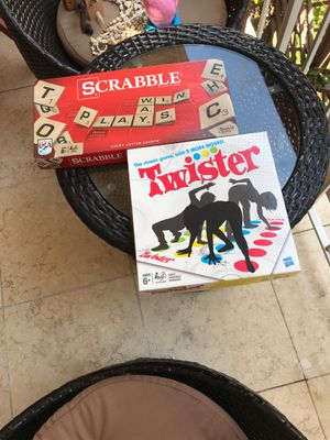 Twister scrabble board game set for Sale in Miami, FL