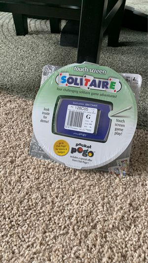 NIB: Touch Screen Solitaire (hand held game) for Sale in Lake Hallie, WI