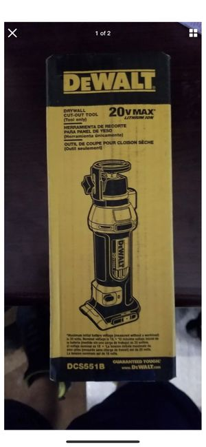 Cut out tool dewalt DCS551B for Sale in Roselle, IL