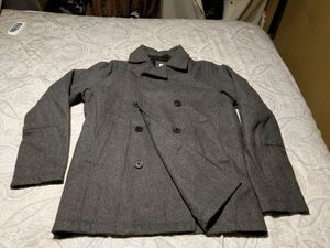 Old Navy Small mens Men's Wool-Blend Peacoats Light Heather (grey) for Sale in Poway, CA