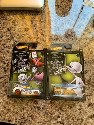 Hot Wheels Nightmare Before Christmas 25th anniversary NEW 2 pack for Sale in Riverside, CA