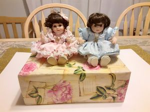 TWO Beautiful VINTAGE Porcelain DOLLS for Sale in Arnold, MO