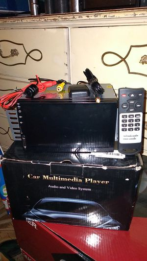 Double din back up camera GPS and remote control for Sale in Las Vegas, NV
