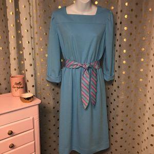 "Vintage Leslie Fay size 14 belted dress PIT TO PIT: 36 "" LENGTH: 41"" SLEEVE: 18"" for Sale in Saint Albans, WV"