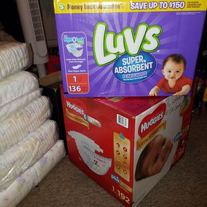Baby Diapers Size Newborn, 1, & 2 for Sale in Wahiawa, HI