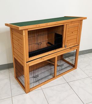 "New $95 Wooden 44x17x36"" Rabbit Hutch Pet Cage with Run Asphalt Roof Bunny Small Animal House for Sale in Whittier, CA"