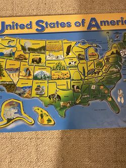 Melissa Doug Wooden Puzzle (states, Capital, Birds) One Piece Missing for Sale in Beverly Hills,  CA