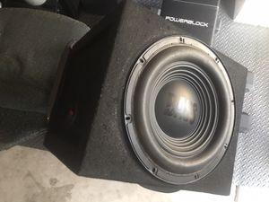 Alpine subwoofer with box for Sale in Fullerton, CA