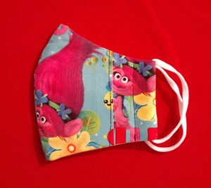 ( TROLLS) Handmade childrens mask with filter pocket! for Sale in Hazelwood, MO