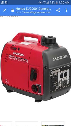 Honda 2000i inverter gererator for Sale in Bend, OR