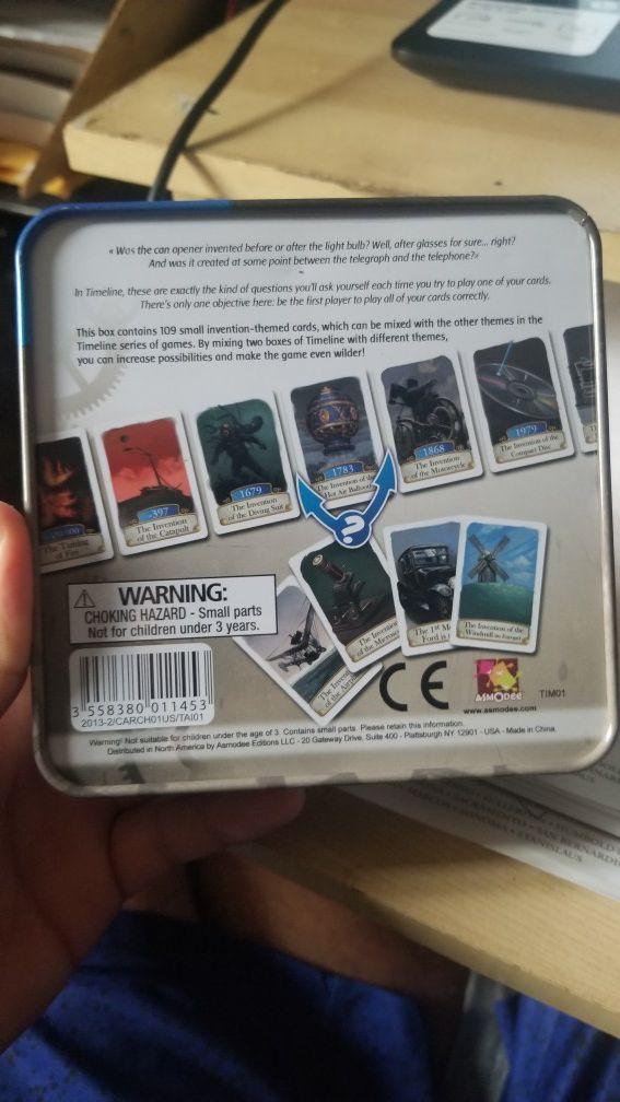 Timeline Card Board Game
