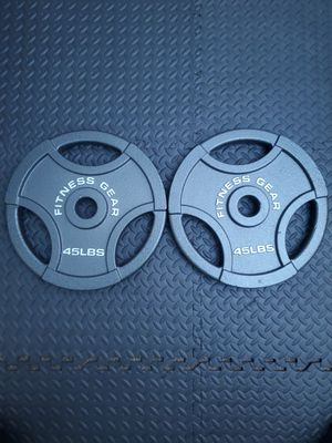 Two 45lb olympic weights. for Sale in Madera, CA