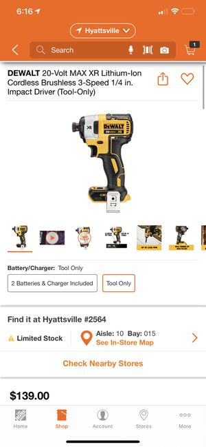 """""""Dewalt XR Impact drill for Sale in College Park, MD"""